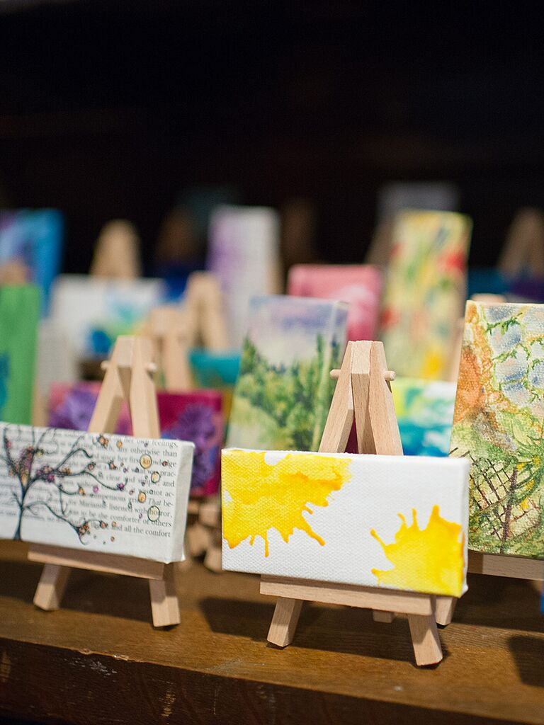 Customized mini paint canvases