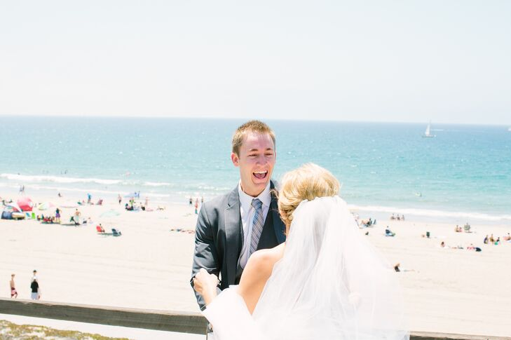 """""""After getting ready, our day began with a first look at a location on the beach where we lived,"""" says Brittney. """"We now get to reminisce on that moment when we go for a run on the beach past that location."""""""