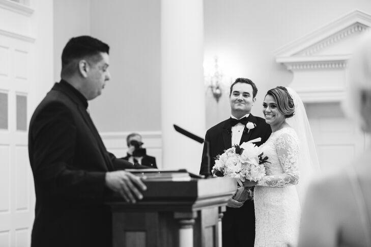Lace Long-Sleeve Wedding Dress