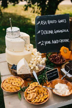 Alternative Savory Cheese Cake Display