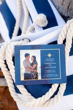 Nautical Navy Save-the-Dates