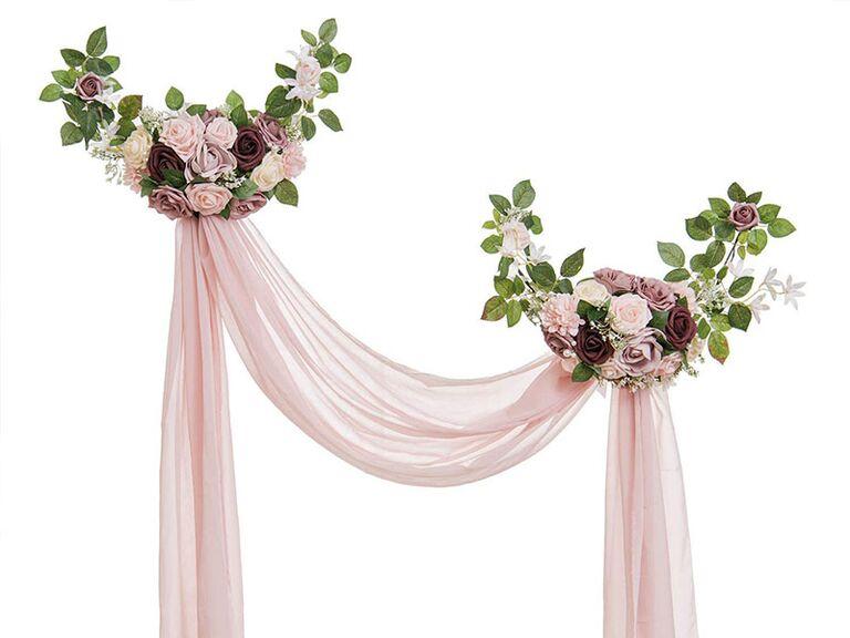 floral swag pink