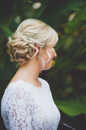 Curled Updo Hairstyle