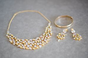 Delicate Gold Bridal Jewelry