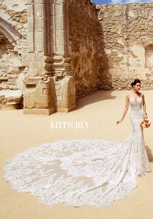 KITTYCHEN Couture FELICIA, K1944 Sheath Wedding Dress