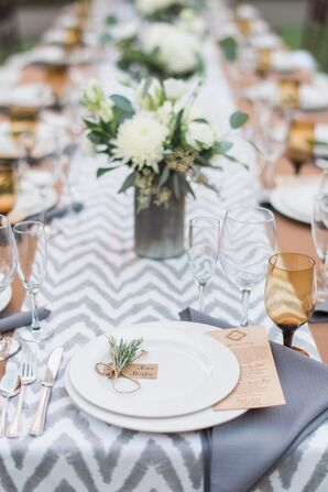 Chevron-Striped Table Runners