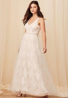 Lulus Sweet Love Ivory Lace Beaded Maxi Dress A-Line Wedding Dress