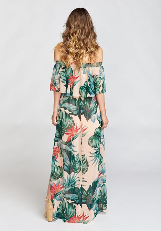 ca2b4e4dfb938 Show Me Your Mumu Hacienda Maxi Dress - Kauai Kisses Off the Shoulder  Bridesmaid Dress