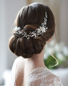 Dareth Colburn Felicity Floral Hair Vine (TI-3365) Gold, Silver Headband
