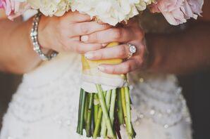 Metallic Bridal French Manicure