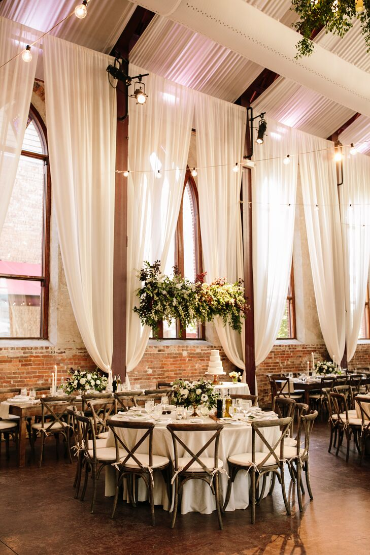 Tuscan-Inspired Reception with Ivory Draping