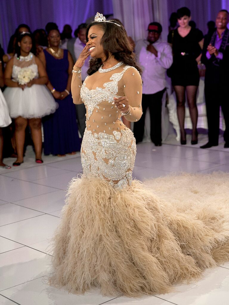 Kandi Burruss Wedding Dress