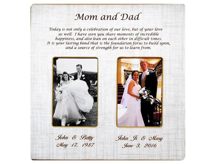Picture frame mother-in-law wedding gift