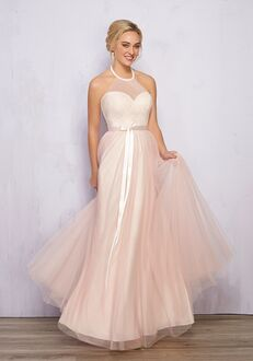 1 Wedding by Mary's Modern Maids M1848 Halter Bridesmaid Dress