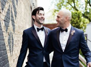 """Adrian Galarza and Jeb Howell wanted their wedding to reflect their classic, sophisticated style. """"During the planning process, we remember looking at"""