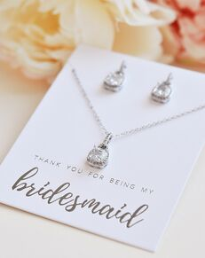 Dareth Colburn Catalina Bridesmaid Jewelry Set (JS-1610-BR) Wedding Necklace photo