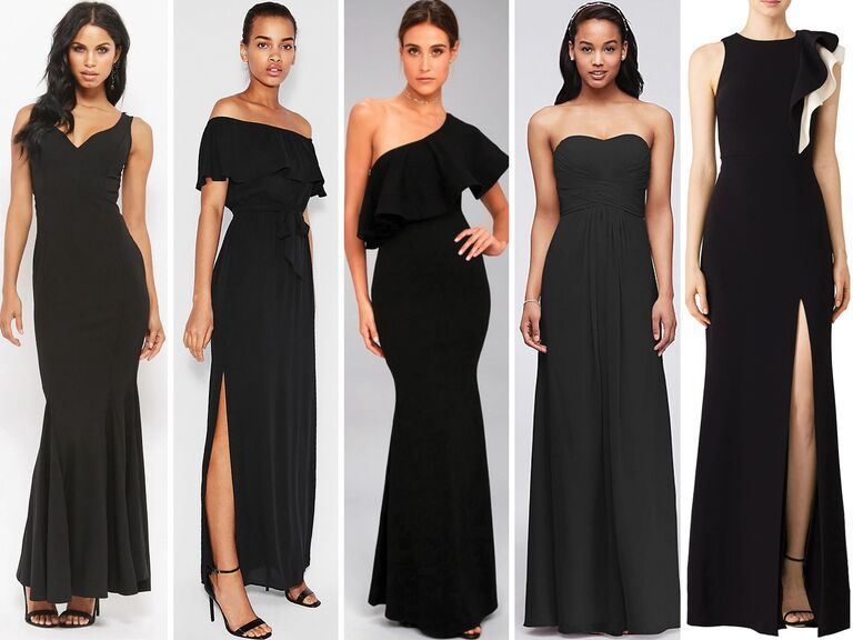 5 Black Bridesmaid Dresses Under 100