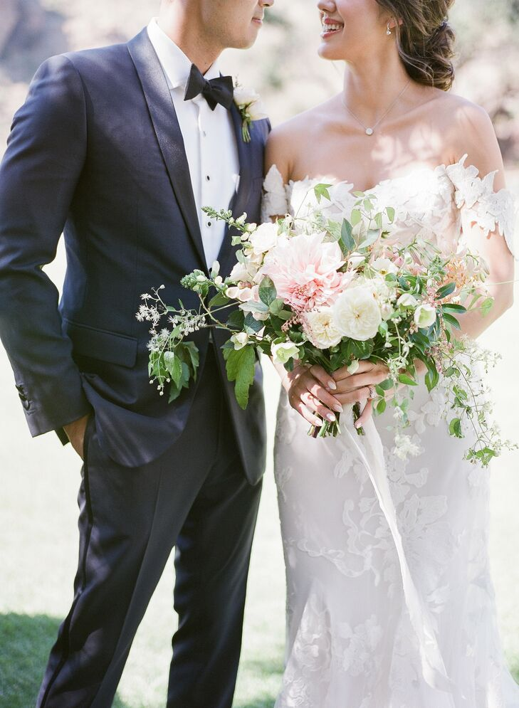 Romantic Bouquet for Wedding at Saddlerock Ranch in Malibu, California