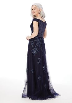 MGNY 72228 Black,Gray,Blue Mother Of The Bride Dress