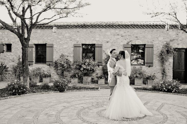 Off-Shoulder Fit-and-Flare Wedding Dress