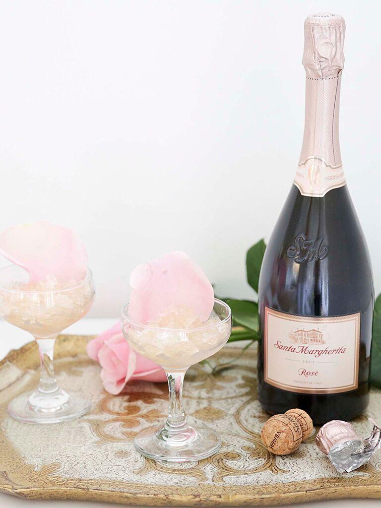 Sparkling rosé granita recipe