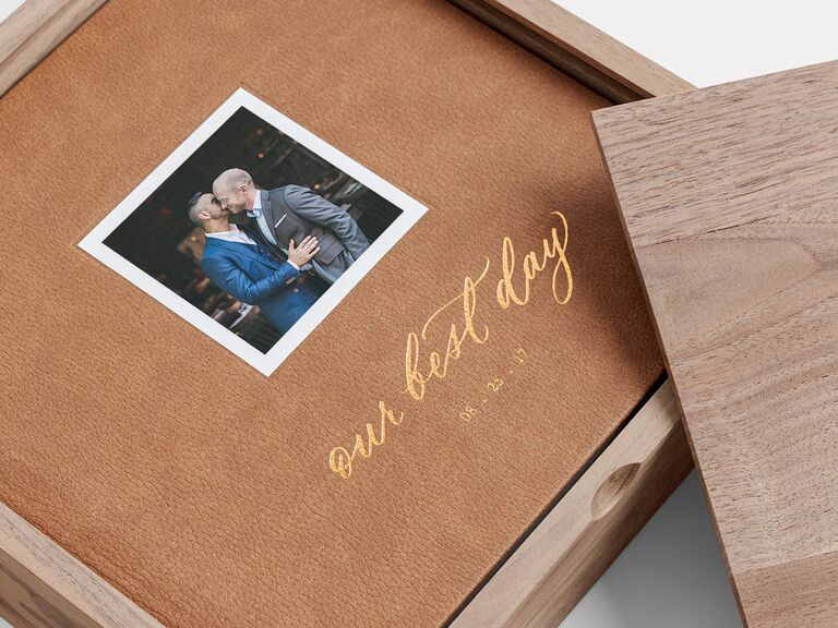 Our Best Day personalized wedding album