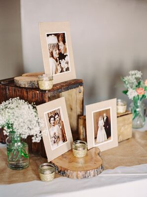 Rustic Chic Family Photo Display