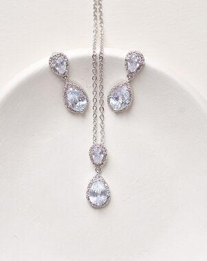 Dareth Colburn Georgia CZ Pendant Jewelry Set (JS-1674) Wedding Necklace photo