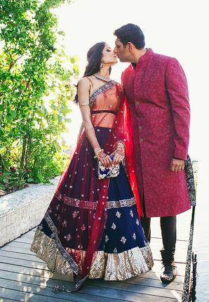 Sangeet Party Attire for the Bride and Groom