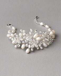 Dareth Colburn Pretty Floral & Freshwater Pearl Bracelet (JB-4819) Wedding Bracelet photo