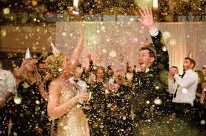 Confetti at New Year's Eve Wedding Reception