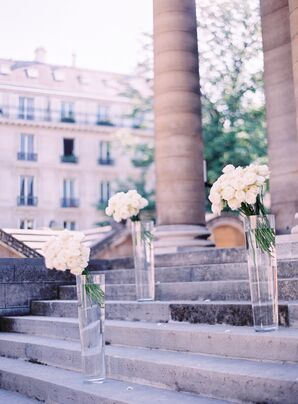 Intimate, Simple Ceremony at Chapel in Paris