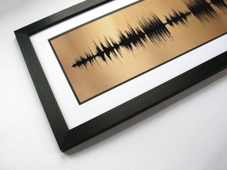 bronze soundwaves first dance