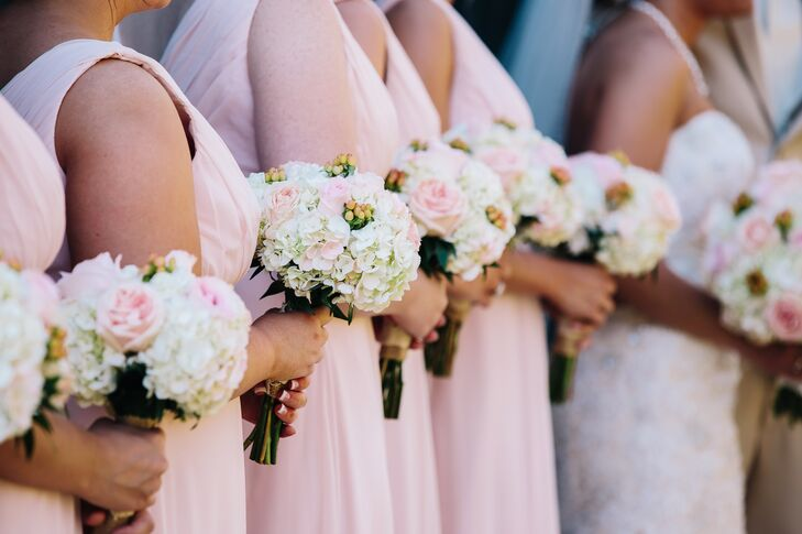 Light Pink And White Bridesmaid Bouquets