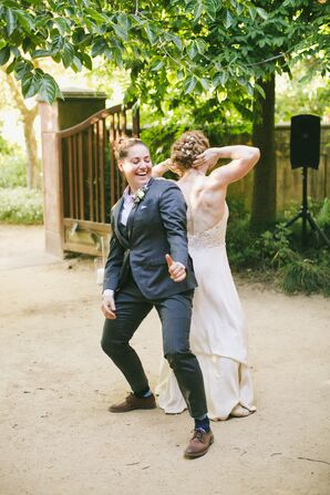 Couple During Fun, Casual First Dance
