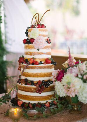 A Naked Key Lime Wedding Cake