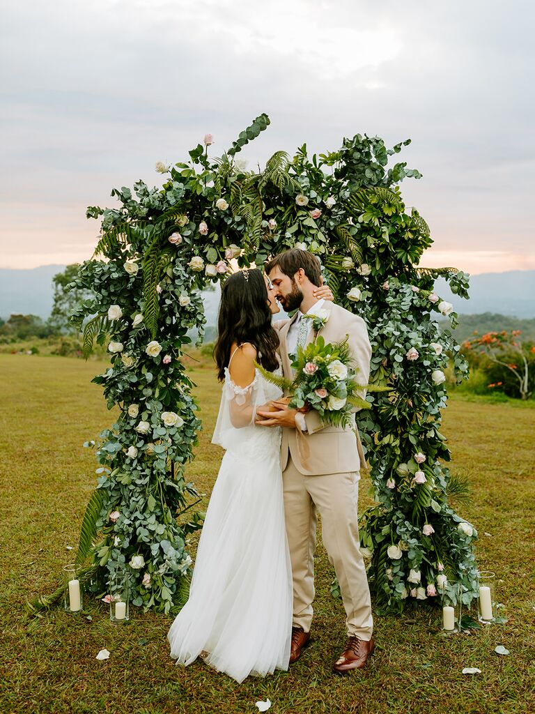 Eco-friendly floral arch
