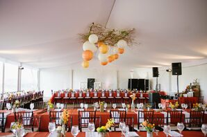 Orange Reception Decor