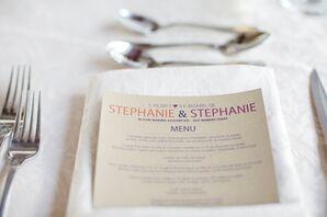 Neutral Menu Cards and White Napkins