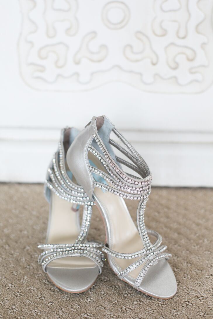 85b151896116 Silver Embellished Bridal Shoes. Favorite. Michelle walked down the aisle  in style