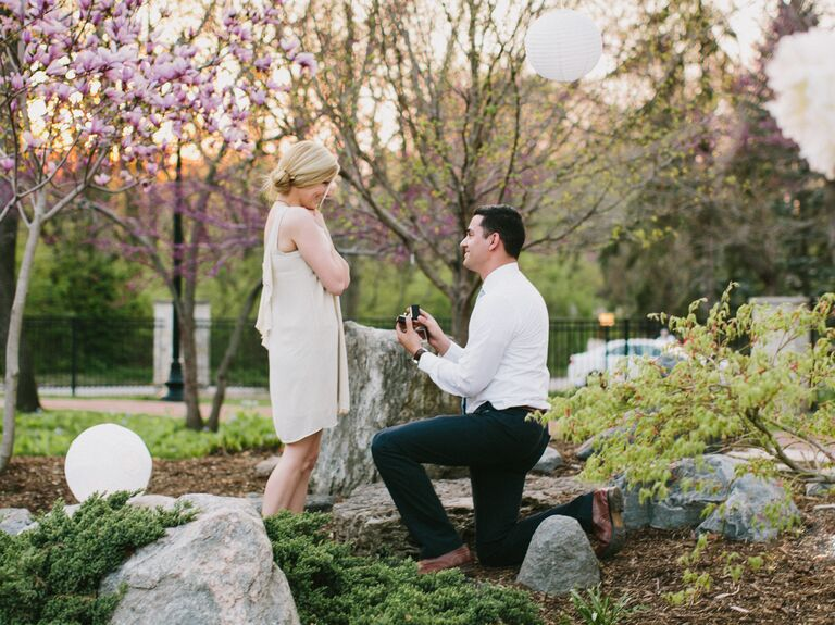 Spring marriage proposal