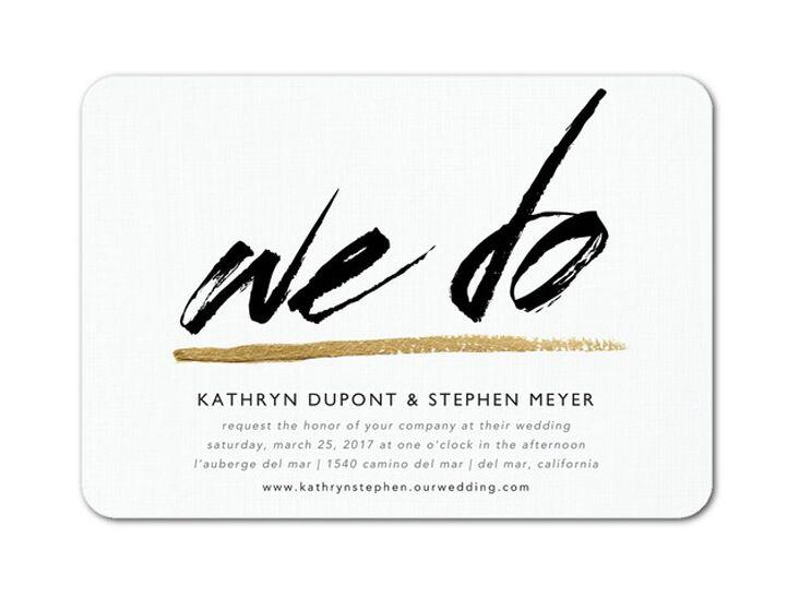 Wedding Paper Divas black and white wedding invitation