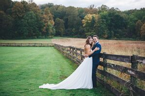 Long Flowing Train on Wedding Dress