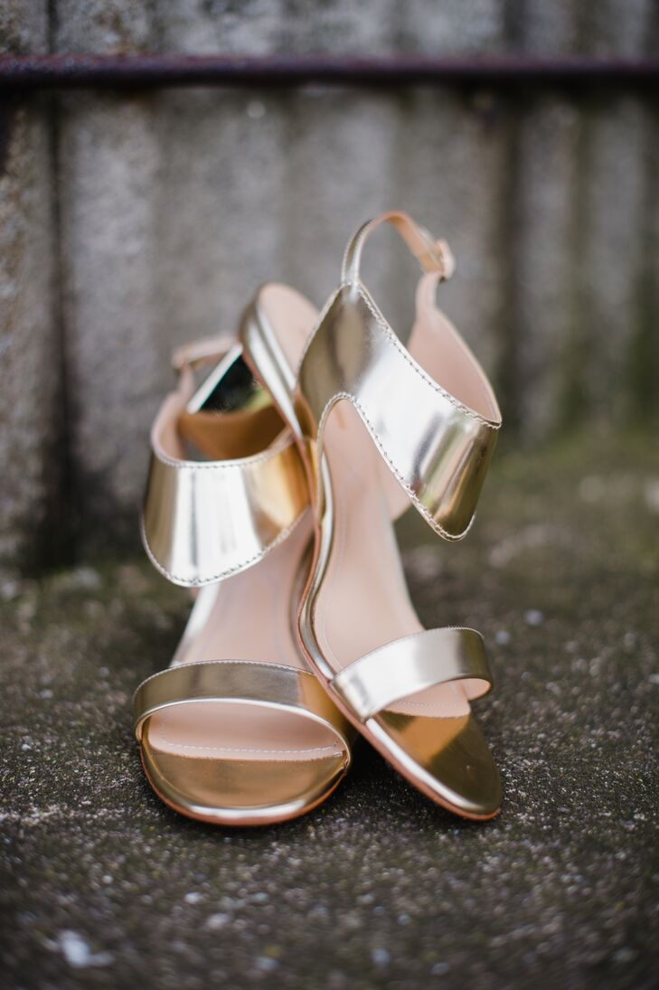 Metallic Gold High Heels