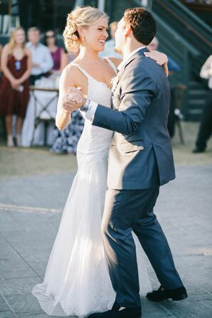 First Dance at Elegant Beachside Reception