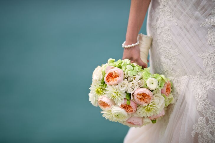 Soft Pastel Garden Rose Bridal Bouquet