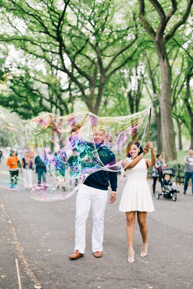 Devon Still & Asha Joyce NYC engagement session