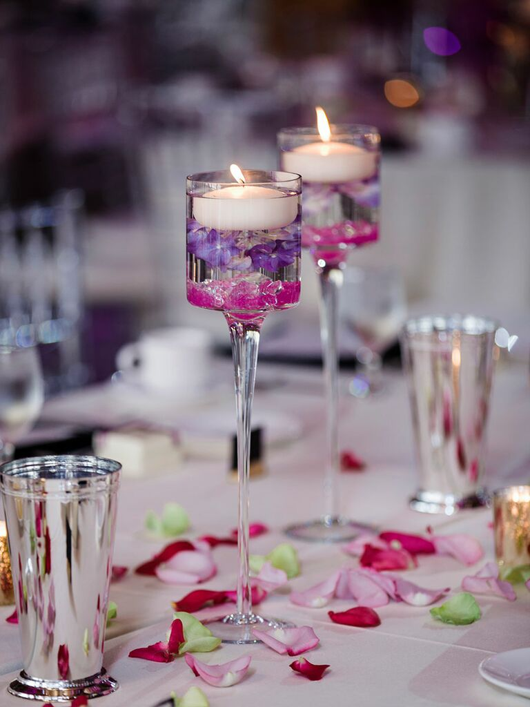 Simple Wedding Centerpieces With Floating Candles