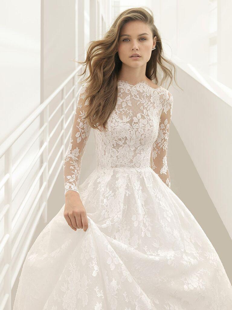 Ethereal Wedding Dress.Rosa Clara Fall 2018 Collection Bridal Fashion Week Photos