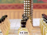 Homemade limoncello wedding favors